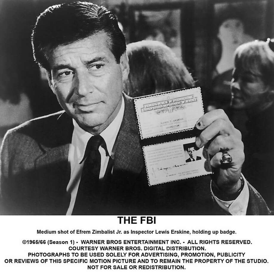 "Efrem Zimbalist Jr. played Inspector Lewis Erskine  in the 1960s series ""The F.B.I."" Photo: Warner Bros."