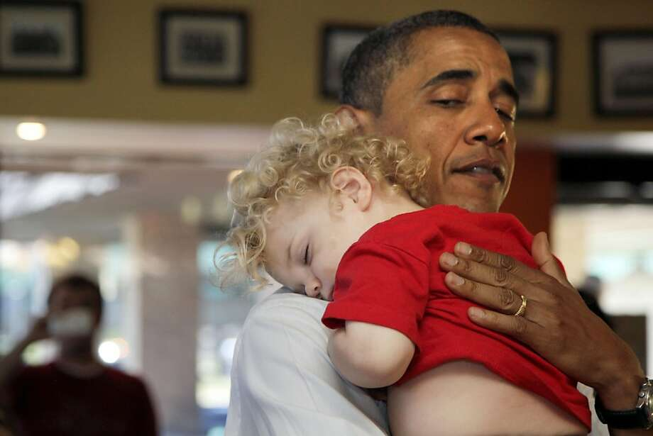 """If you want to get a kid to konk out like this, Rockabye Baby's lullaby versions of rock classics likely would get the job done. Here's their version of """"(Can't Get No) Satisfaction."""" Photo: Carolyn Kaster, AP"""