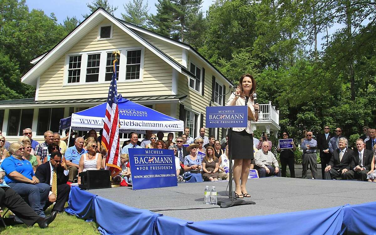 Republican presidential candidate, Rep. Michele Bachmann, R-Minn. speaks in Raymond, N.H., Tuesday, June 28, 2011.