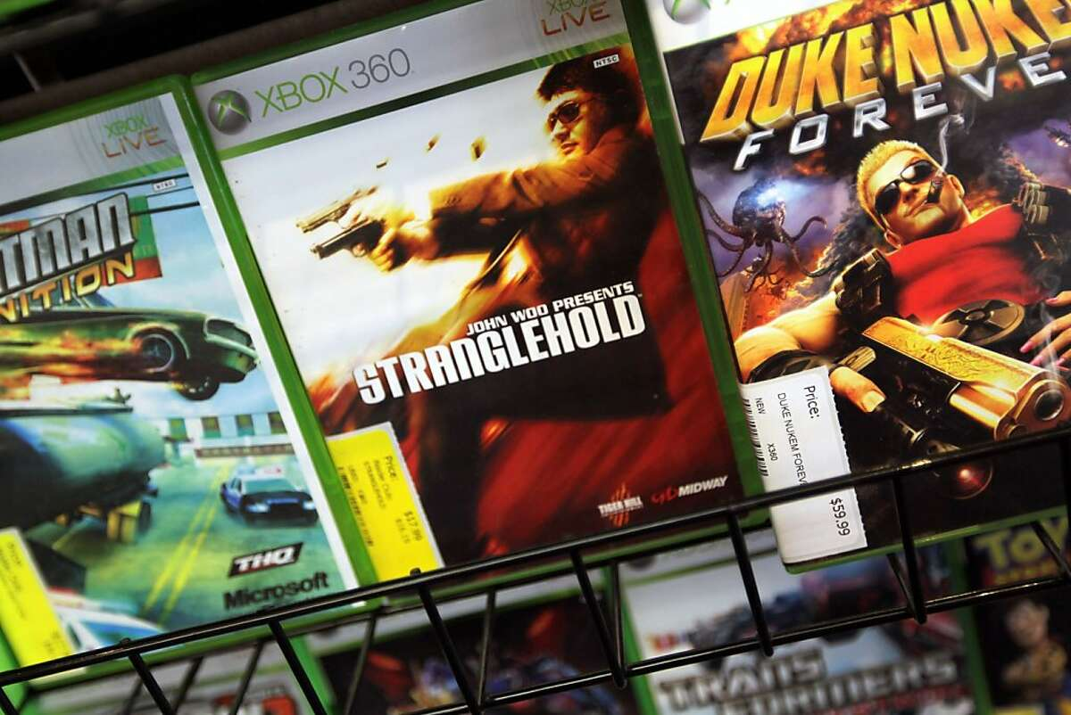 Video game boxes are seen at Play n Trade video game store June 27, 2011 in Miami, Florida. Today, the United States Supreme Court struck down a California law banning the sale of violent video games to minors.