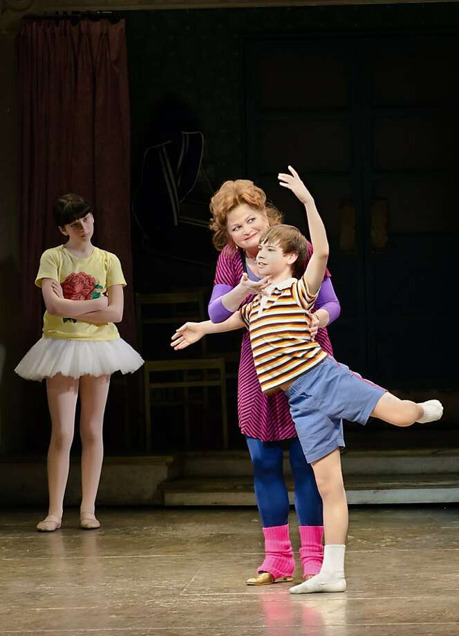 "Rachel Mracna, Faith Prince and Daniel Russell  in the musical ""Billy Elliot."" Photo: Kyle Froman"