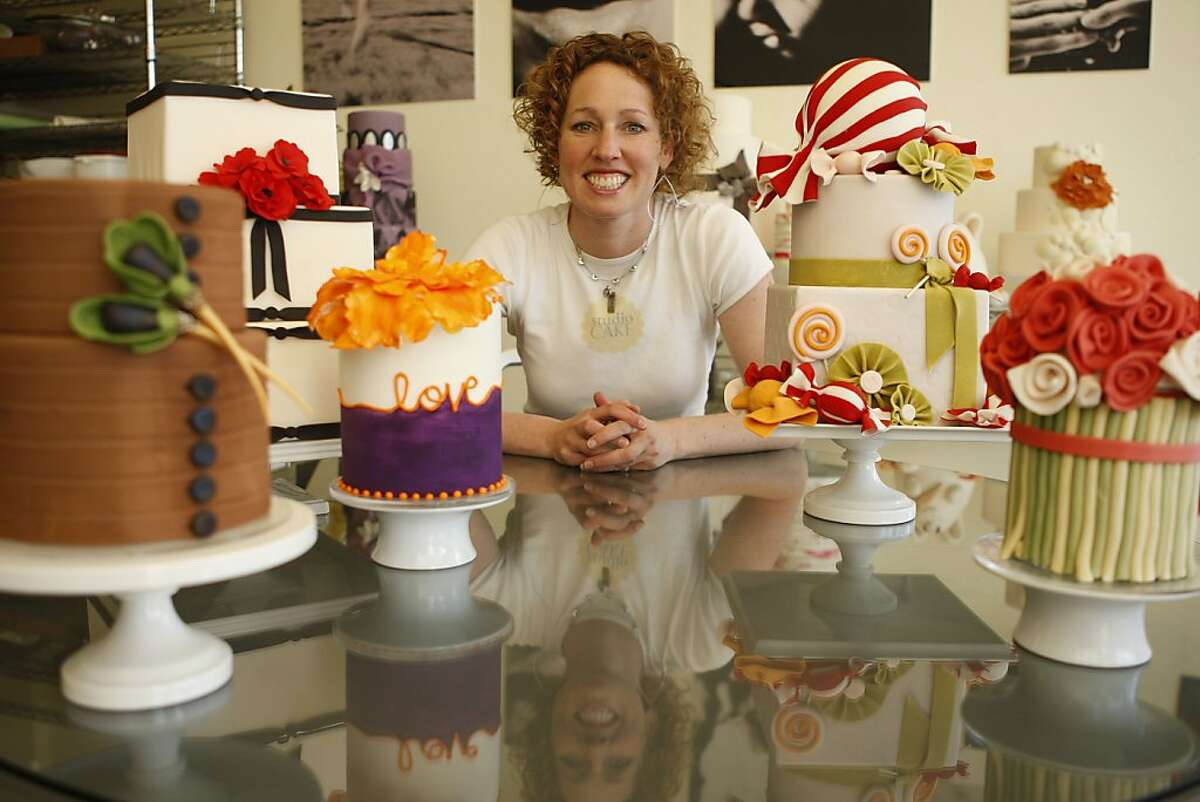 BethAnn Goldberg poses for a portrait at her business Studio Cake in Menlo Park Calif, on Friday, April 8, 2011. Goldberg a Stanford Alumni and former NASA employee has received national attention for her custom cake creations.