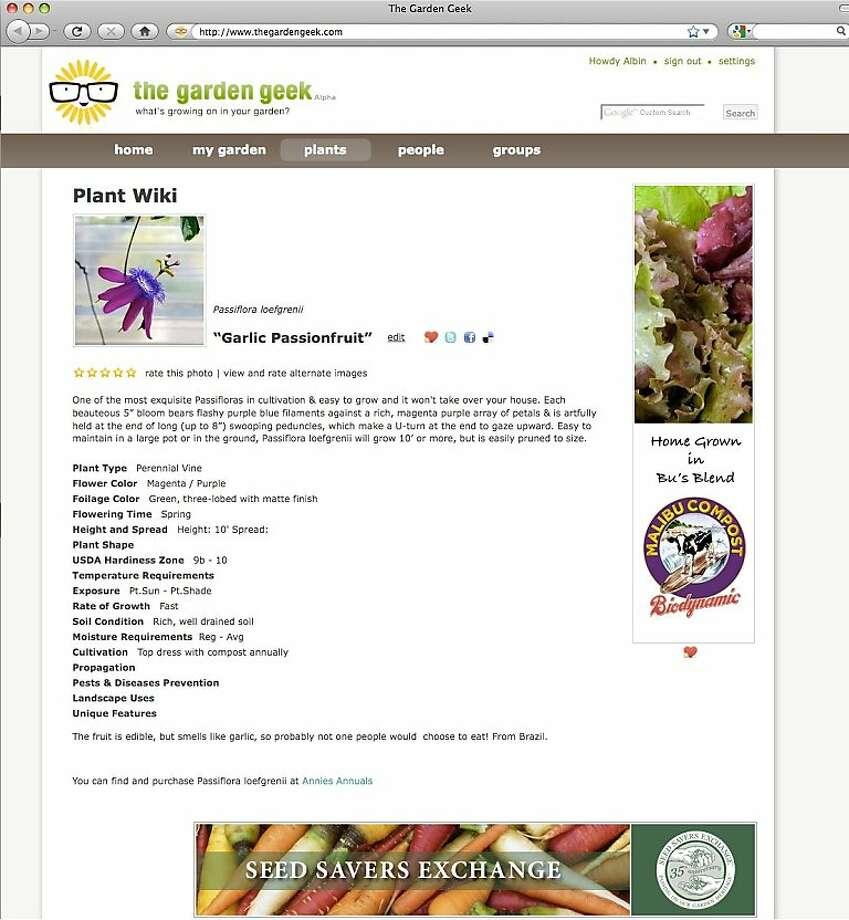 The Garden Geek Photo: The Garden Geek
