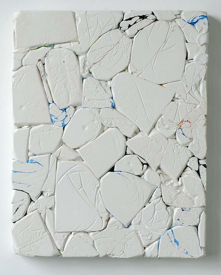"""""""Press #1072"""" (2011) plaster and plastic on wood by Emil Lukas Photo: Unknown, Hosfelt Gallery"""