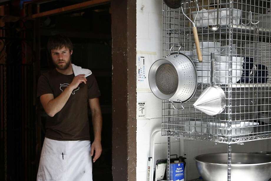 Iso Rabins working in a commercial kitchen at La Victoria Bakery for a benefit with Friends of St. Francis. Photographed in San Francisco Calif.,  on June 21, 2011. Photo: Audrey Whitmeyer-Weathers, The Chronicle