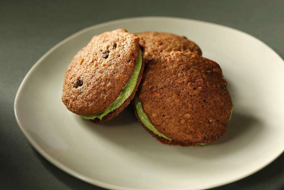 Carrot cookies with matcha creme. Food styled by Rochelle Vurek. Photo: Craig Lee, Special To The Chronicle