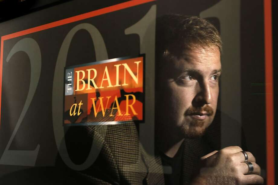 "Iraq war veteran's like Ben Sykes, on Friday June 17, 2011 in San Francisco, Ca., will be the focus during an upcoming conference entitled ""The Brain at War"" where new information from local researchers at the Veterans Administration Hospital in San Francisco will be unveiled, on the effects of war on returning veterans. Photo: Michael Macor, The Chronicle"