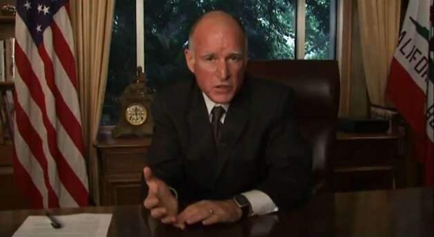 California Gov. Jerry Brown explains in a YouTube video why he vetoed the state budget plan passed by Democrats on Wednesday. Photo: YouTube