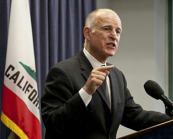 California Gov. Jerry Brown is shown Thursday, June 16, 2011 during a news conference in Los Angeles. The Democratic governor said he had a number of concerns about the budget package passed Wednesday by majority Democrats to close California's remaining$9.6 billion deficit. Photo: Damian Dovarganes, AP