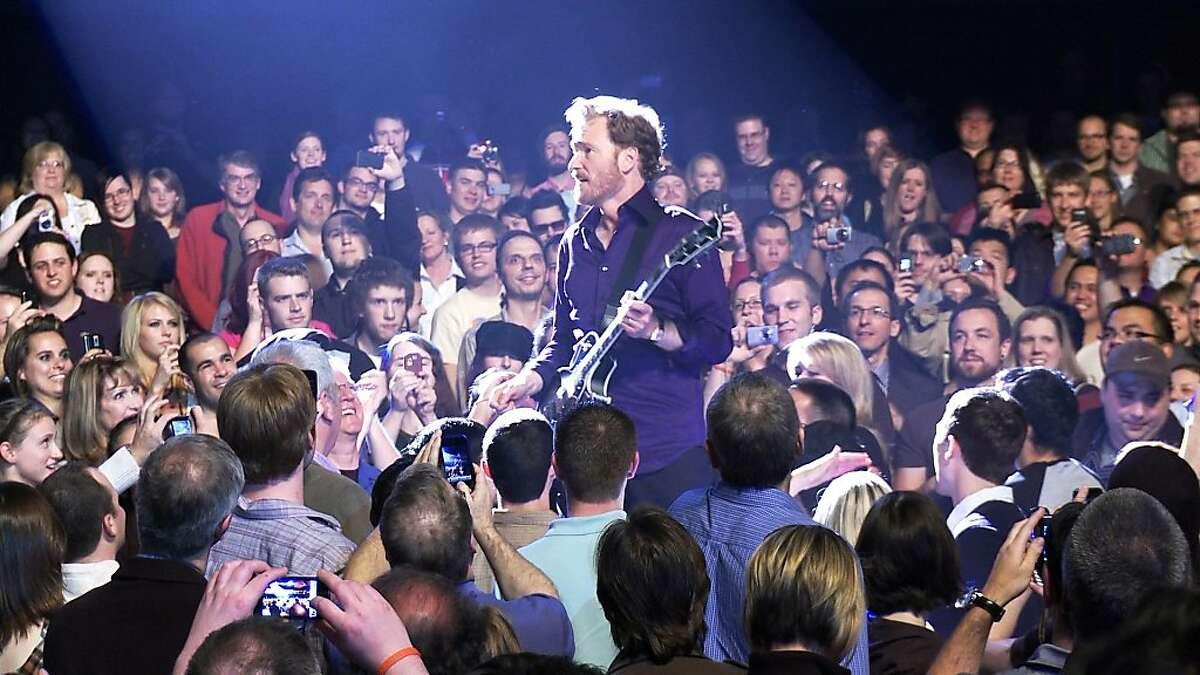 """Conan O'Brien during a performance on his """"Legally Prohibited from Being Funny on Television Tour"""" in the summer of 2010 in Rodman Flender's documentary, """"Conan O'Brien Can't Stop."""""""