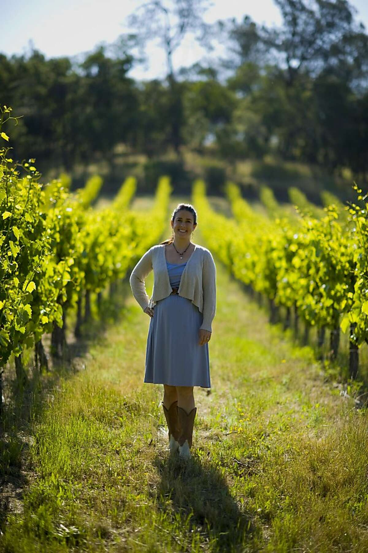 David Girard Vineyards winemaker Mari Wells Coyle in the vineyards of the winery where she works.