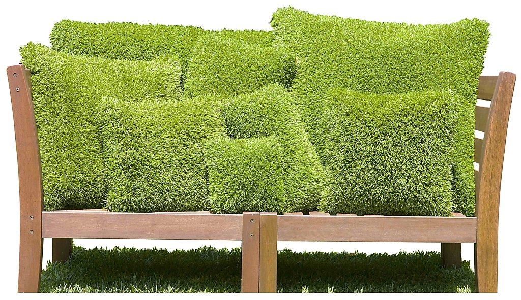 Firmly Planted Turf Pillows: Grass Always Greener   SFGate Great Pictures