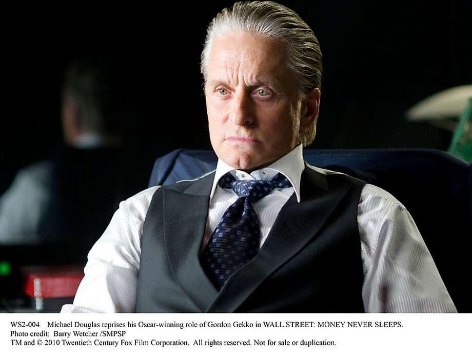 Michael Douglas reprises his Oscar-winning role of Gordon Gekko in WALL STREET: MONEY NEVER SLEEPS. Photo: Barry Wetcher SMPSP, Twentieth Century Fox