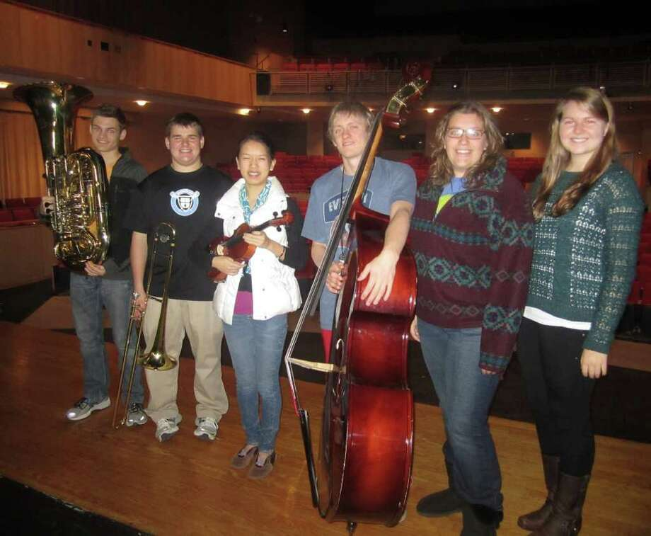 Music students Grant Minor, Peter Traver, Alice Wang, Chris Janson, Felicia Knise and Abby Becker will perform at the concert. Photo: Contributed Photo