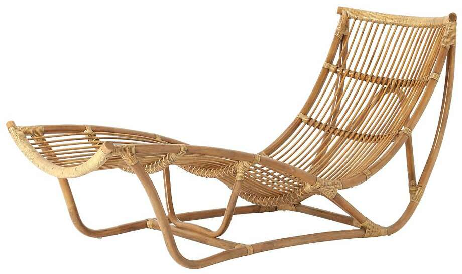 rattan chaise longues from anthropologie and ikea sfgate