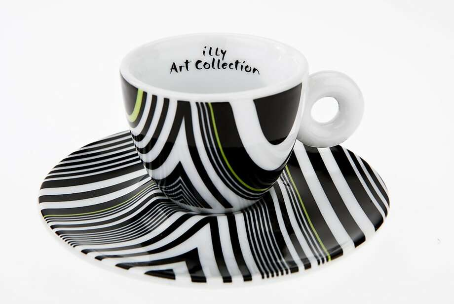 One of the latest cups in the illy Art Collection, designed by Tobias Rehberger. Photo: Russell Yip, The Chronicle