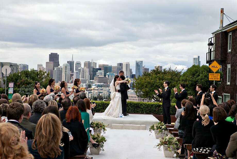 Images from the wedding of Justin Manus and Jenna Goldman in San Francisco, 2011. Photo: Rhee Bevere