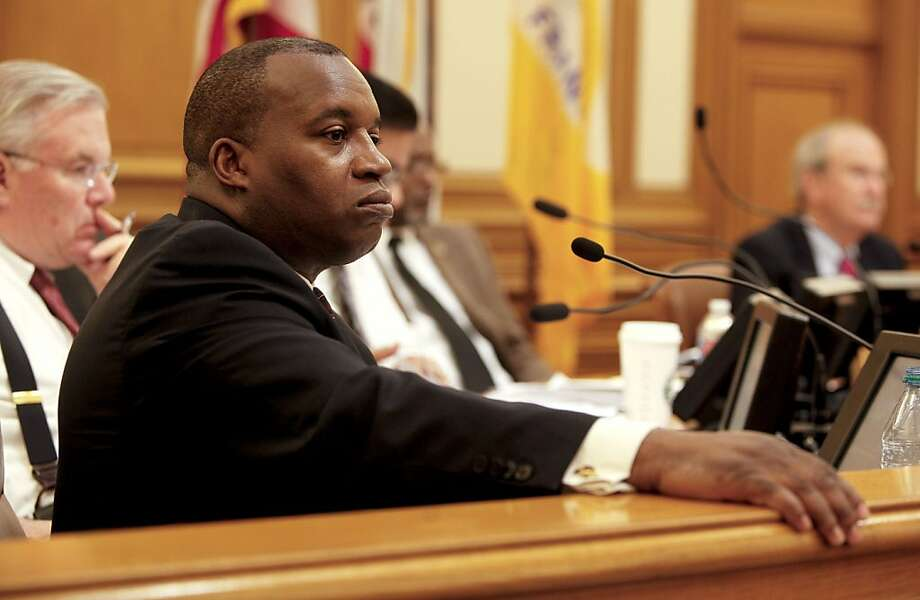 Nathaniel Ford, the executive director and CEO of the MTA listens to public comments during a public meeting of the San Francisco Municipal Transportation Agency in San Francisco, Calif. on Friday Feb. 26, 2010. The agency is facing a $16.9 million budget deficit. Photo: Michael Macor, The Chronicle