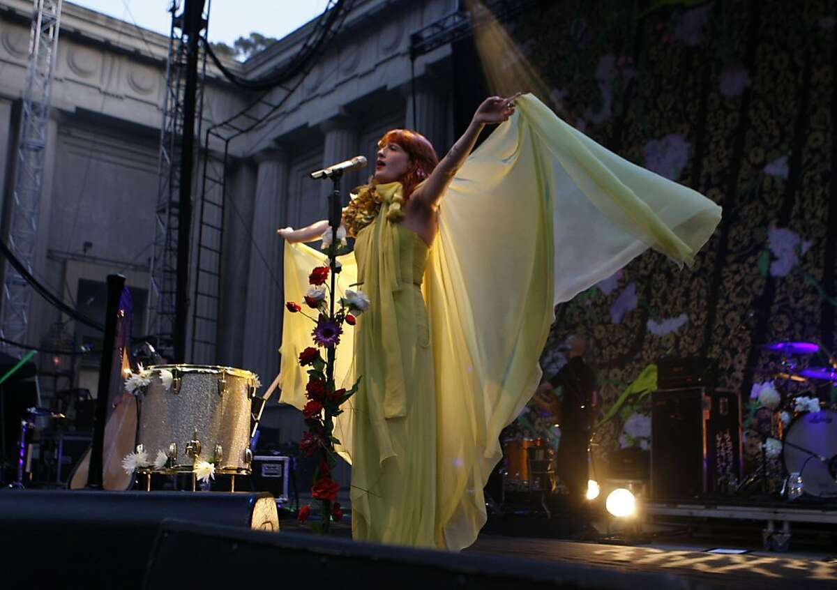 Florence and the Machine, the Grammy winning British singer-songwriter, plays her largest show yet at the Greek Theatre in Berkeley, Calif., on Sunday, June 12, 2011.