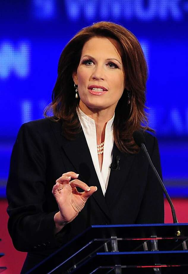 Congresswoman Michele Bachmann speaks during the first 2012 Republican presidential candidates' debate in Manchester, New Hampshire June 13, 2011. Photo: Emmanuel Dunand, AFP/Getty Images