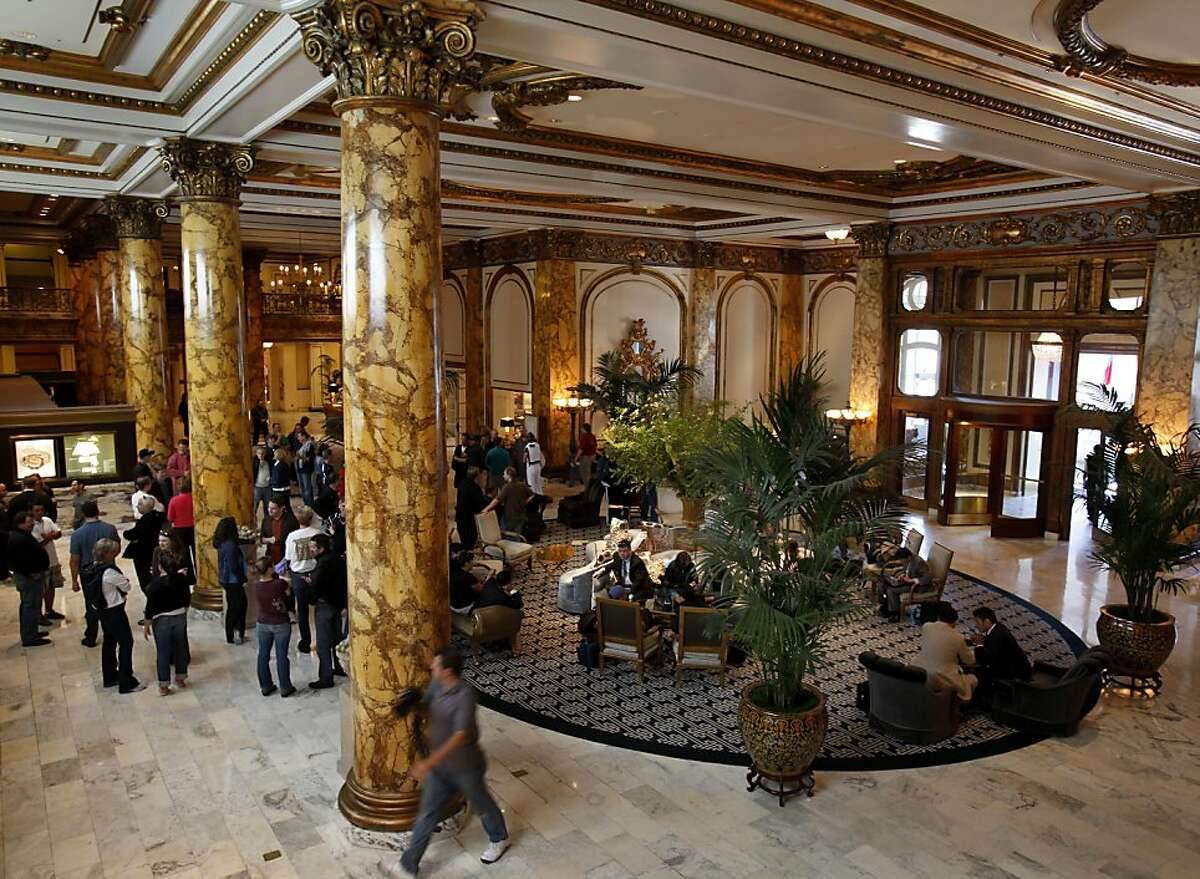 The lobby of the Fairmont Hotel Tuesday June 14, 2011. The Fairmont Hotel, one of the most famous hotels in San Francisco, Calif is being put up for sale.