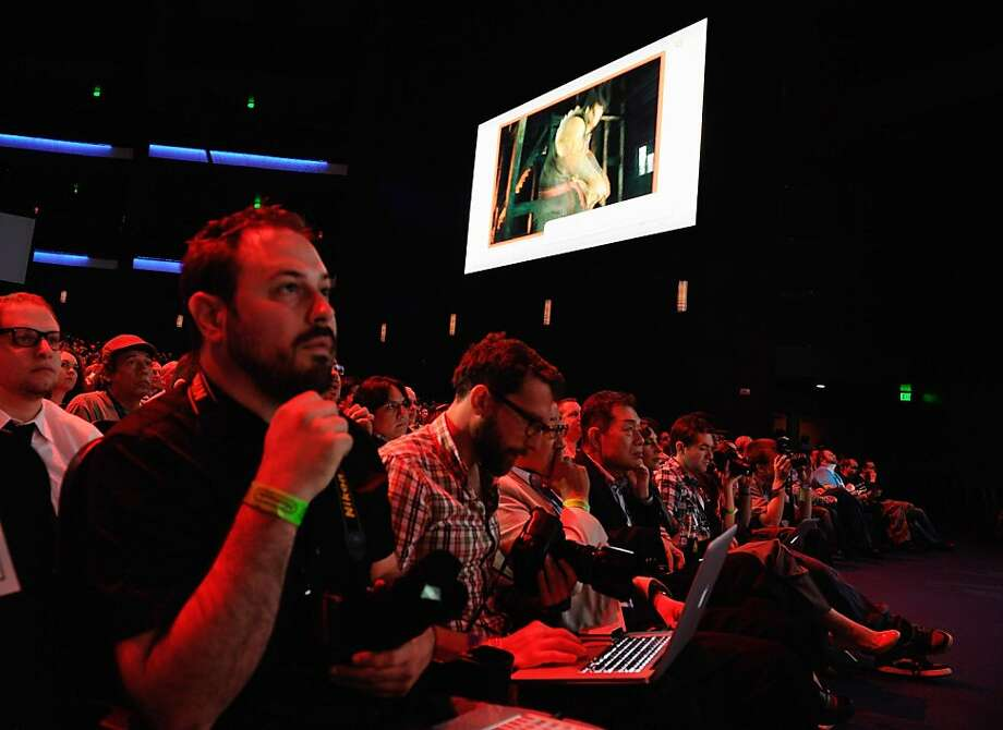 Audience and media members attend the unveiling of the new game console Wii U at the Electronic Entertainment Expo on Tuesday in Los Angeles. Photo: Kevork Djansezian, Getty Images