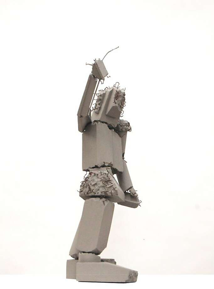 A model of Tim Hawkinson's proposed sculpture for Fremont and Mission streets, a 41-foot figure that would be constructed from salvaged pieces of the now-demolished Transbay Terminal. Photo: Tim Hawkinson/Pelli Clarke P