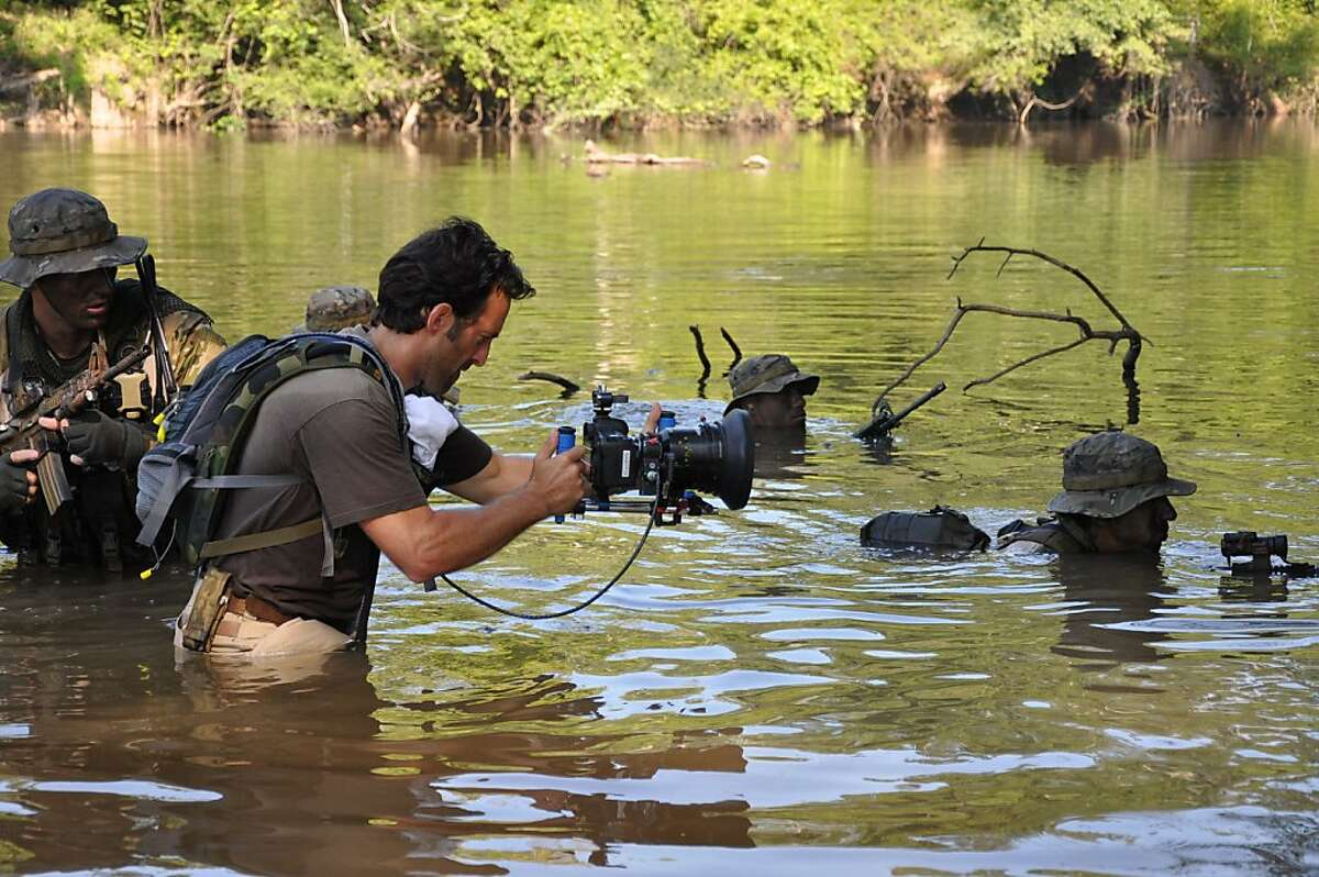 """Director Scott Waugh while shooting """"Act of Valor."""""""