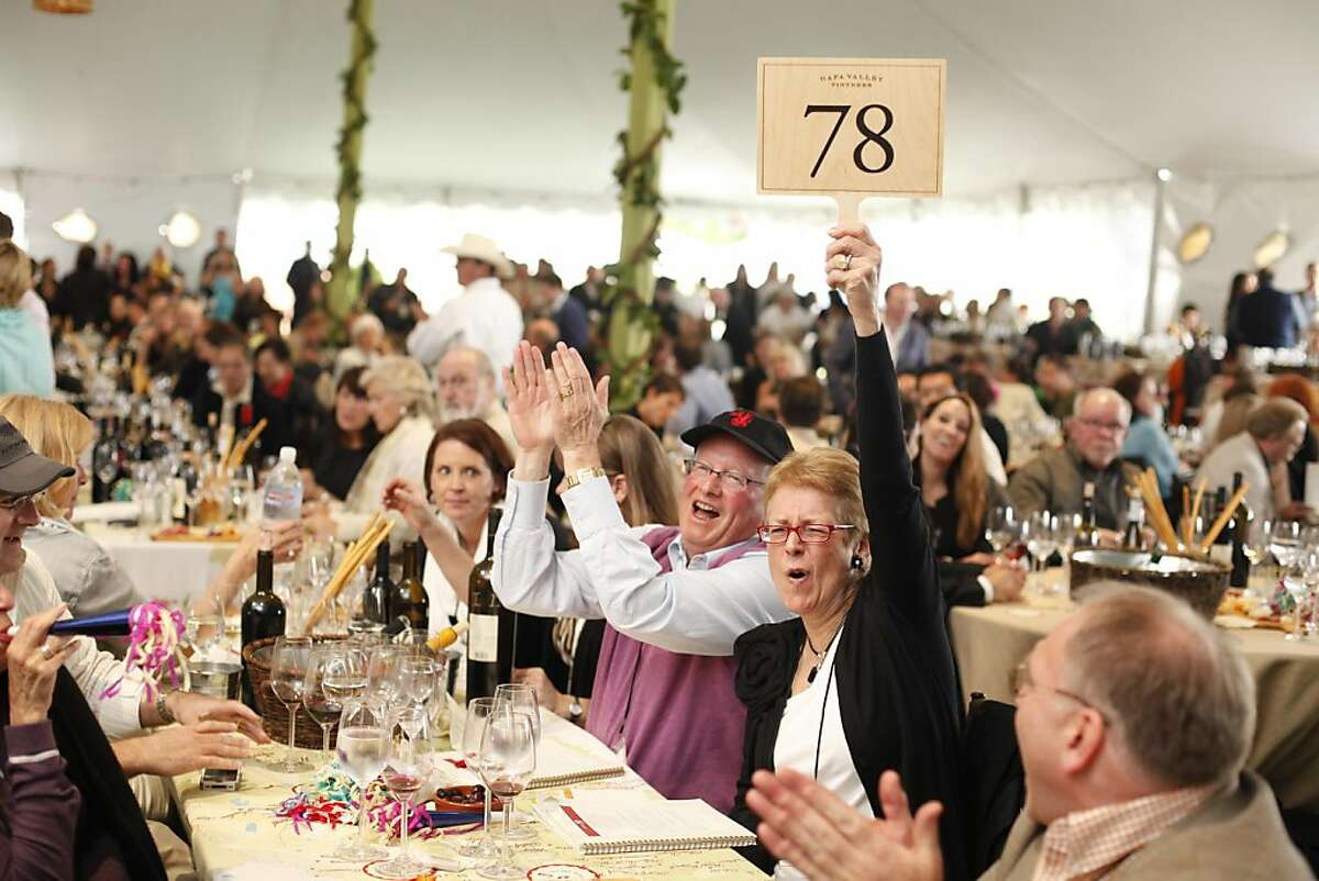 The Napa Valley Auction and the Napa Vintners' annual charity gala at Meadowood in St. Helena, California, on Saturday, June 4, 2011.