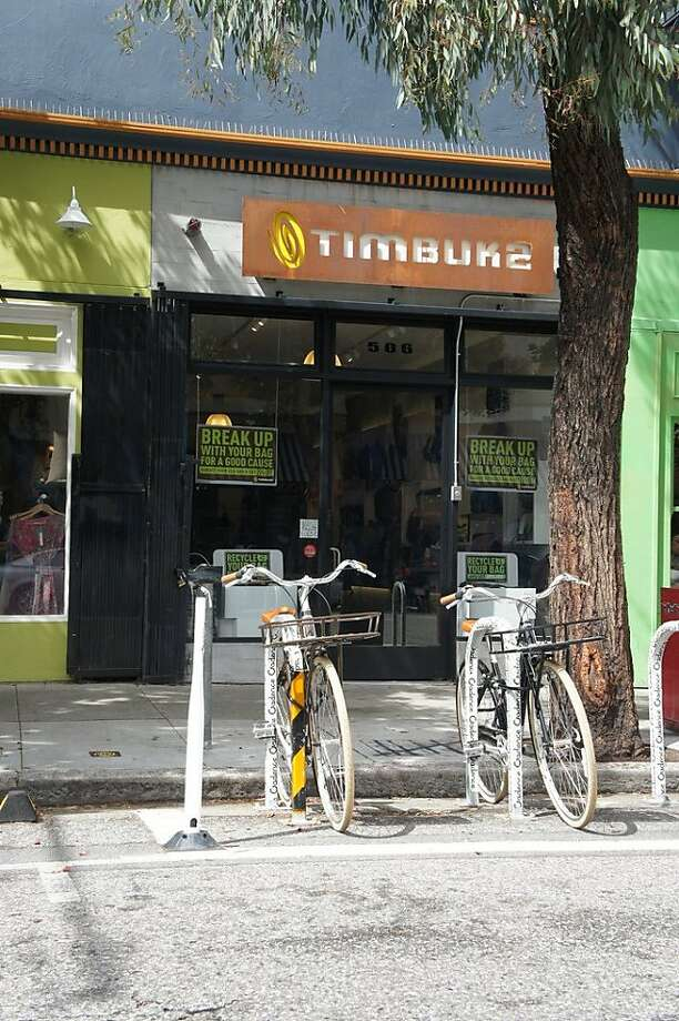 Timbuk2 began a free bike share program out of its Hayes Valley storefront. Photo: Timbuk2