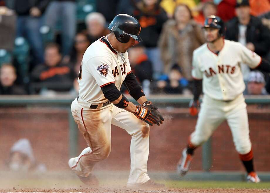 SAN FRANCISCO, CA - JUNE 12:  Andres Torres #56 of the San Francisco Giants scores to put the Giants ahead 4-2 in the seventh inning against the Cincinnati Reds at AT&T Park on June 12, 2011 in San Francisco, California. Photo: Ezra Shaw, Getty Images