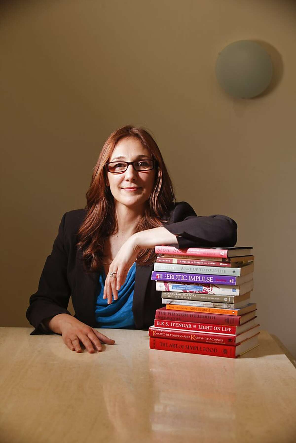 Nicole Daedone, former CEO and founder of OneTaste, is seen in her Russian Hill home office on Wednesday, May 18, 2011 in San Francisco, Calif.