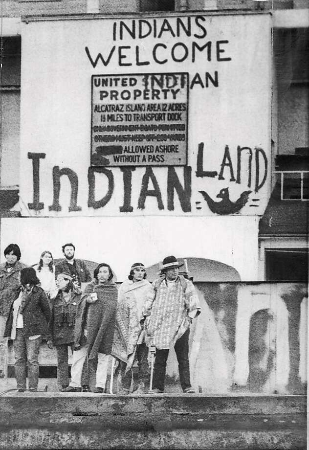 Alcatraz was taken over by American Indians in 1969 and drew 10,000 to 15,000 Indians during a 19-month period. Photo: Vince Maggiora, STAFF