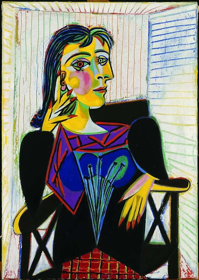 """Portrait of Dora Maar"" (1937) Oil on canvas by Pablo Picasso  Mus?e National Picasso, Paris Photo: Jean-gilles Berizi, Musee National Picasso, Paris"