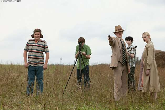 """Super 8"": Riley Griffiths, Joel courtney, Gabriel Basso, Zach Mills and Elle Fanning Photo: Paramount Pictures"