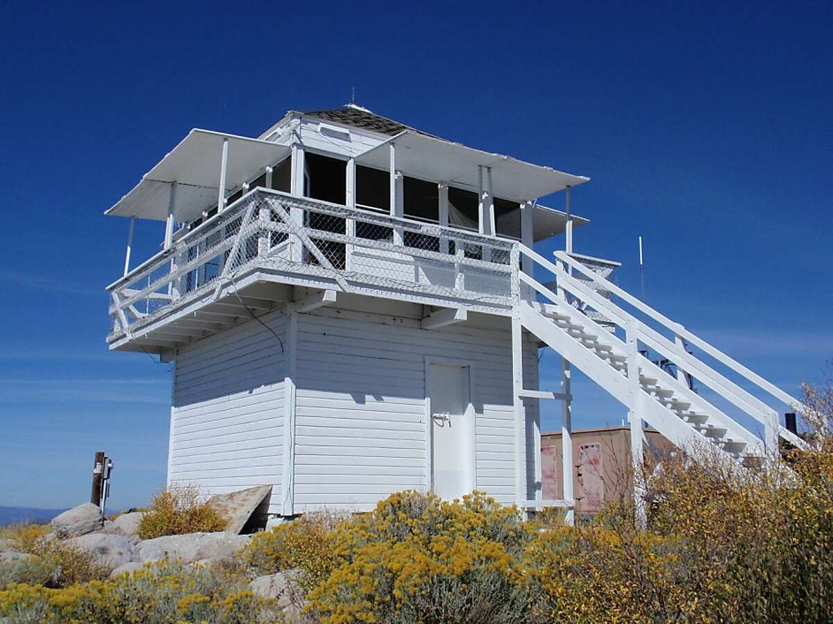 The Black Mountain lookout, with views of the Plumas National Forest in northeastern California, rents for $60 a night.