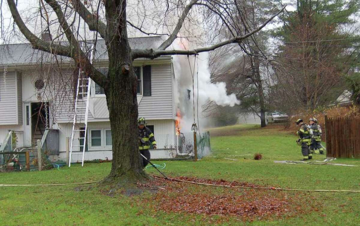 A house fire at 56 Old Ridgebury Road in Danbury this morning, caused electrical and smoke damage inside the house.