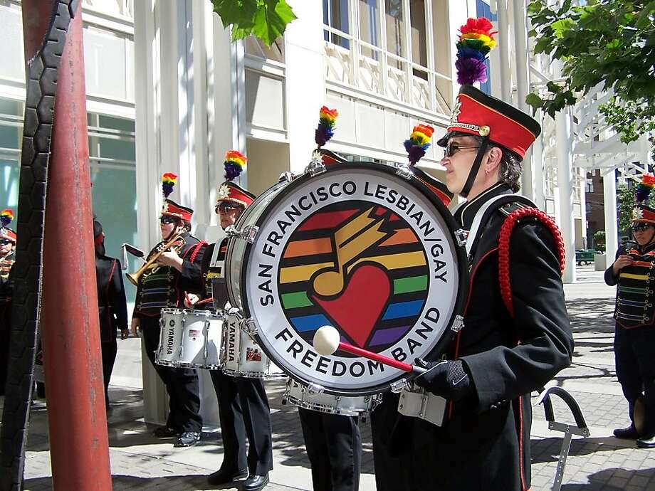 The San Francisco Lesbian/Gay Freedom Band performs this weekend in Oakland. Photo: S.F. Lesbian/Gay Freedom Band