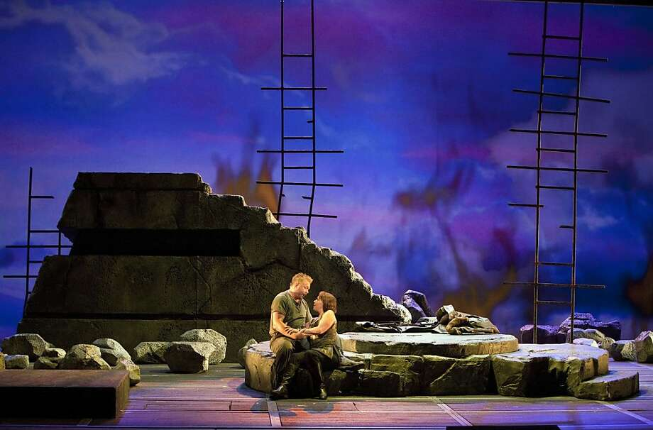 "Ian Storey (Siegfried) and Nina Stemme (Br?nnhilde) in ""Gotterdammerung"" Photo: Cory Weaver, San Francisco Opera"
