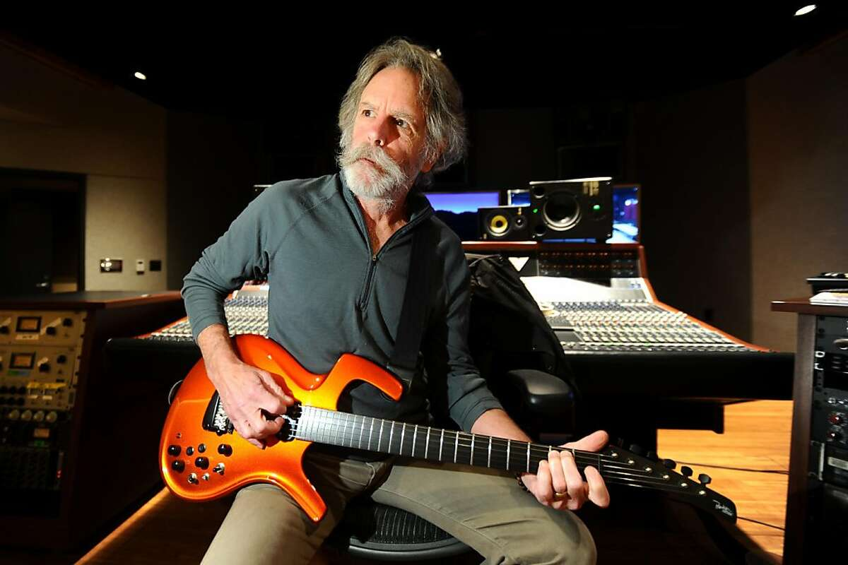 Bob Weir of the Grateful Dead plays guitar at TRI Studios on Wednesday, May 26, 2011, in San Rafael, Calif.
