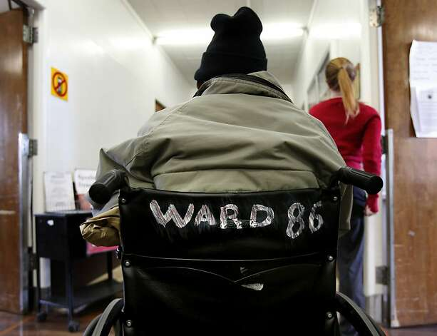 A man in a wheelchair sits in the hallway of the famous Ward 86 Tuesday May 31, 2011. The 30th anniversary of AIDS in San Francisco, Calif. reminds doctors, nurses and patients at San Francisco General Hospital's Ward 86 of the medical progress and the stubborn stigma of the disease itself. Photo: Brant Ward, The Chronicle