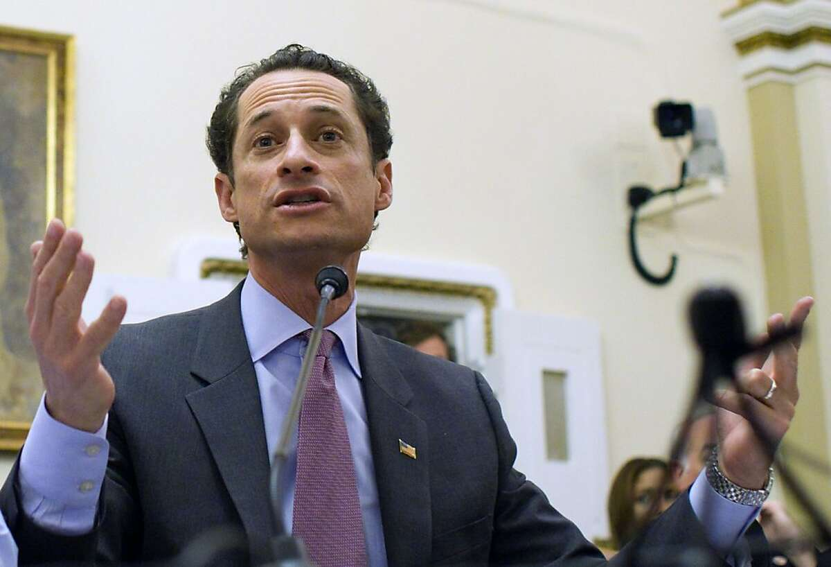 FILE - In this Jan. 6, 2011 file photo, Rep. Anthony Weiner, D-N.Y., testifies before the House Rules Committee on Capitol Hill in Washington.