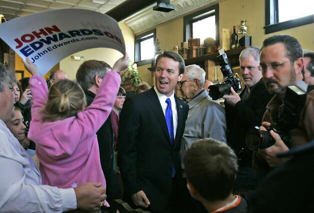 Democratic presidential hopeful, former Sen. John Edwards, D-N.C., makes a campaign stop to talk to supporters and undecided voters Sunday, Jan. 20, 2008, in Newberry, S.C. (AP Photo/Mary Ann Chastain) Photo: Mary Ann Chastain, AP