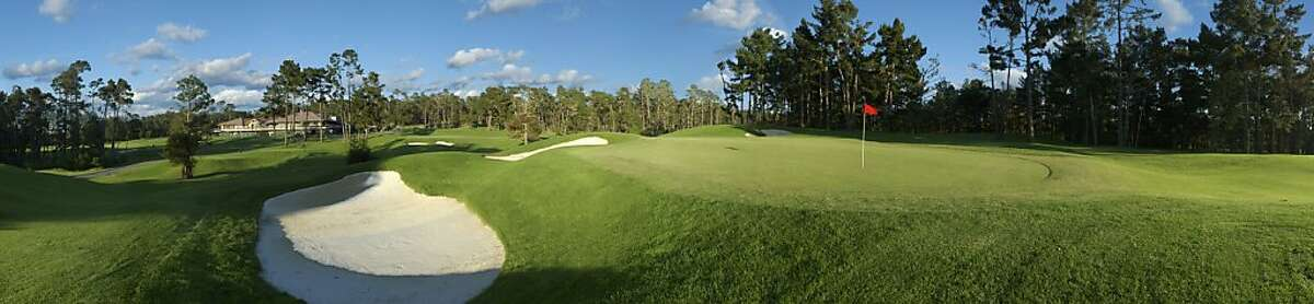 Poppy Hills Golf Course in Pebble Beach, hole 7.