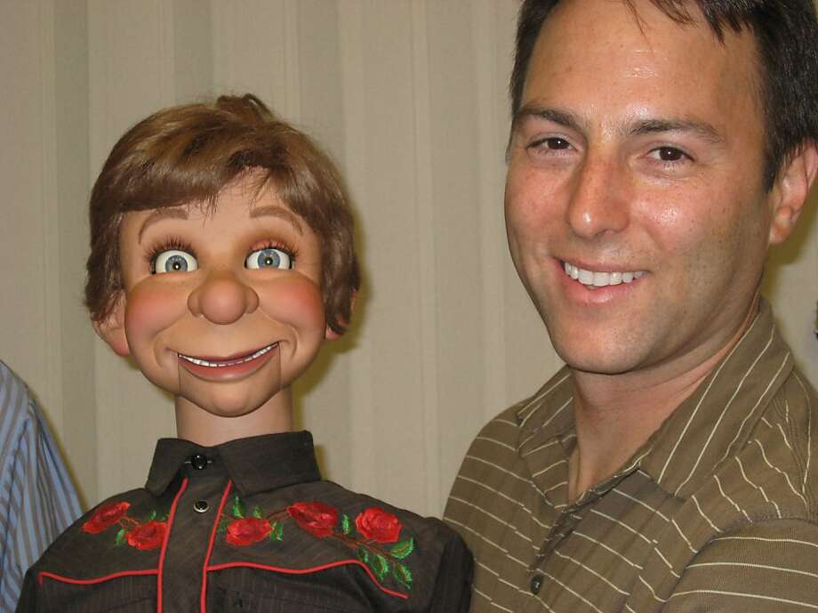"""Mark Goffman, director of, """"Dumbstruck,"""" poses with a dummy. Photo: Courtesy Of Wreckin Hill"""