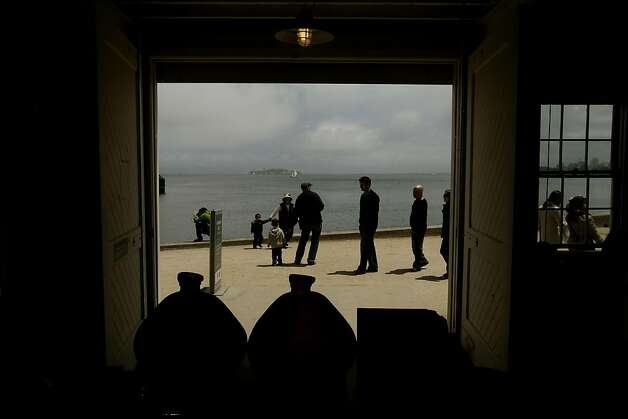 Visitors near The Warming Hut Store and Cafe at Crissy Field, in San Francisco, Ca., on Friday May 27, 2011, as recreation area gets ready to celebrate the 10th anniversary of it's restoration. Photo: Michael Macor, The Chronicle