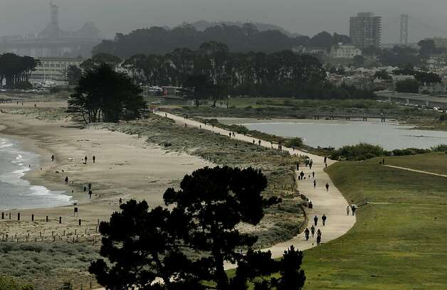 A view of Crissy Field, in San Francisco, Ca., on Friday May 27, 2011, as the recreation area gets ready to celebrate the 10th anniversary of it's restoration. Photo: Michael Macor, The Chronicle