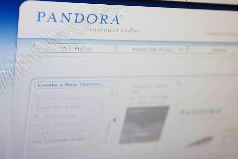The Pandora homepage is seen in Washington, D.C., U.S., on Monday, Feb. 14, 2011. Larry Marcus and Peter Gotcher's early bet on Pandora Media Inc. appeared to be a bust three years ago when the business was buried in music-royalty fees. Now they're preparing for its debut as a public company. Photographer: Andrew Harrer/Bloomberg Photo: Andrew Harrer, Bloomberg
