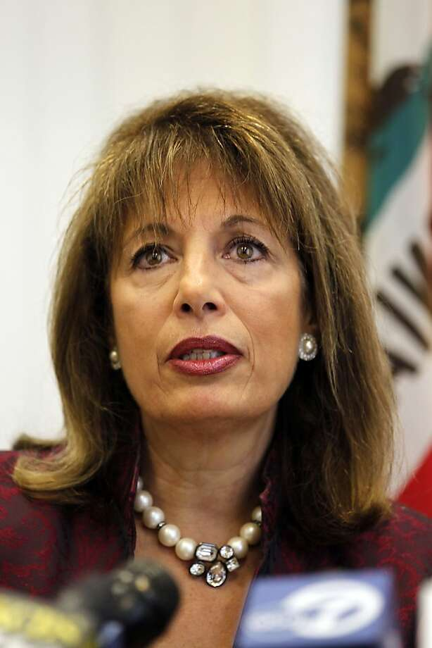 California Rep. Jackie Speier, speaks during a news conference about the National Transportation Safety Board report of the deadly San Bruno gas line disaster in San Mateo, Calif., on Tuesday, Dec. 14, 2010.  A gas pipeline that ruptured and caused a deadly explosion in a Northern California neighborhood showed no signs of corrosion and wasn't dented or leaking, federal accident investigators said Tuesday.  (AP Photo/Tony Avelar)  Ran on: 06-03-2011 Reps. Jackie Speier, D-Hillsborough, and Susan Davis, D-San Diego. Ran on: 06-03-2011 Reps. Jackie Speier, D-Hillsborough, and Susan Davis, D-San Diego. Photo: Tony Avelar, ASSOCIATED PRESS
