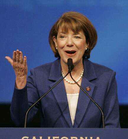 Rep. Susan Davis, D-Calif., addresses the California Democratic Convention in San Diego, Saturday, April 28, 2007. Photo: Lenny Ignelzi, AP Photo